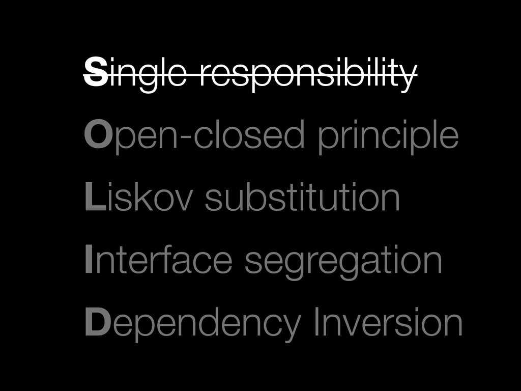 Single responsibility
