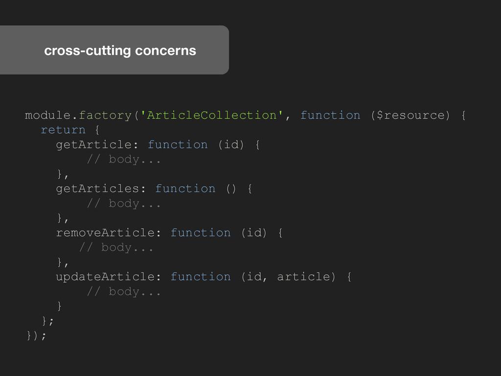 cross-cutting concerns module.factory('ArticleC...