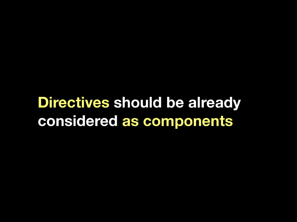 Directives should be already considered as comp...