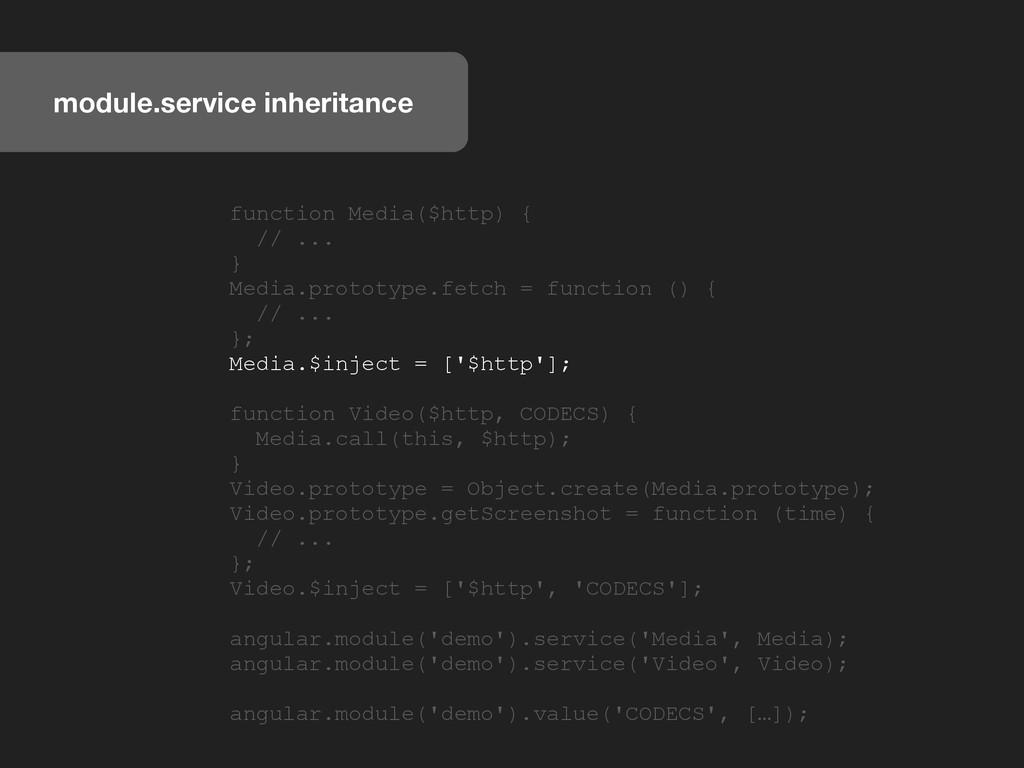 module.service inheritance function Media($http...