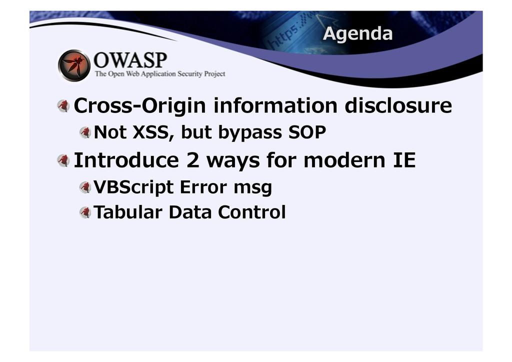 ! Cross-‐‑‒Origin information disclosure...