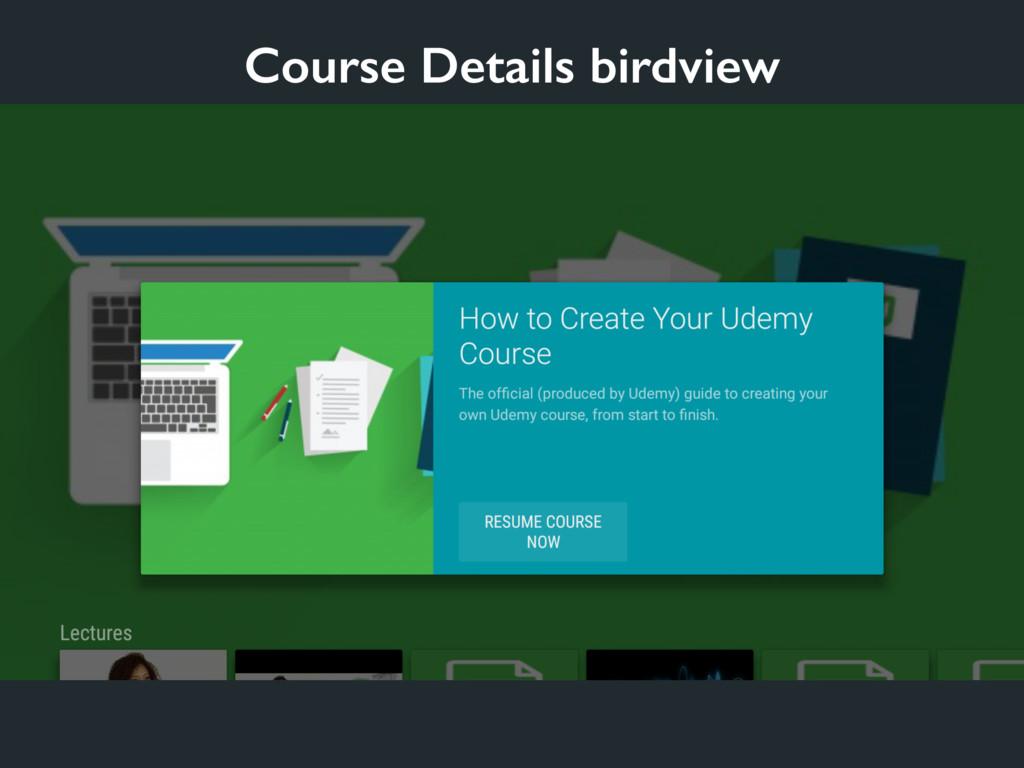 Course Details birdview