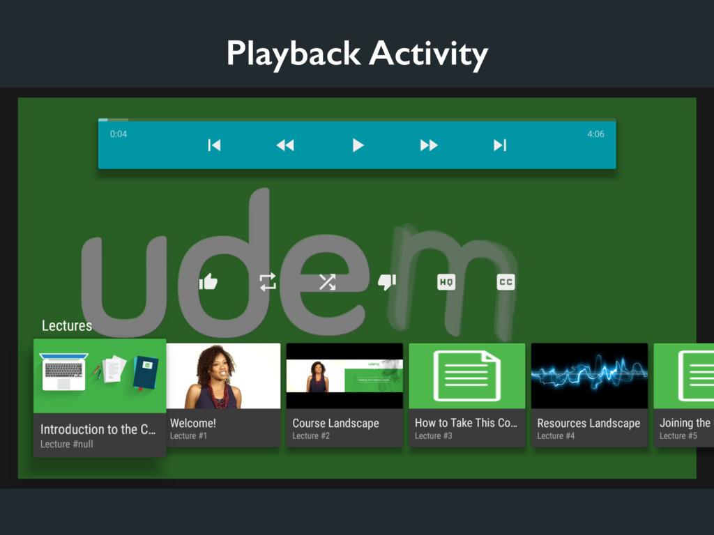 Playback Activity