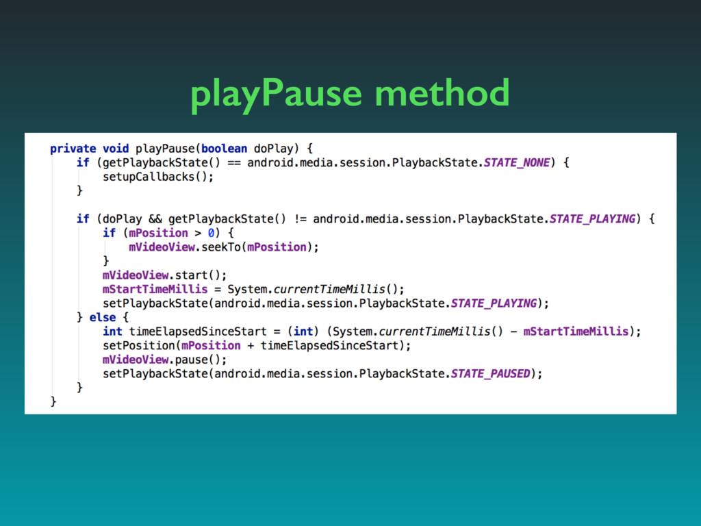 playPause method