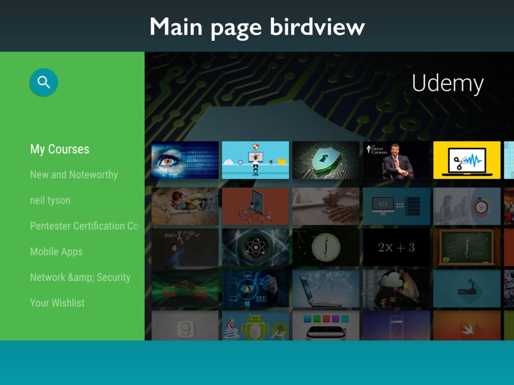 Main page birdview