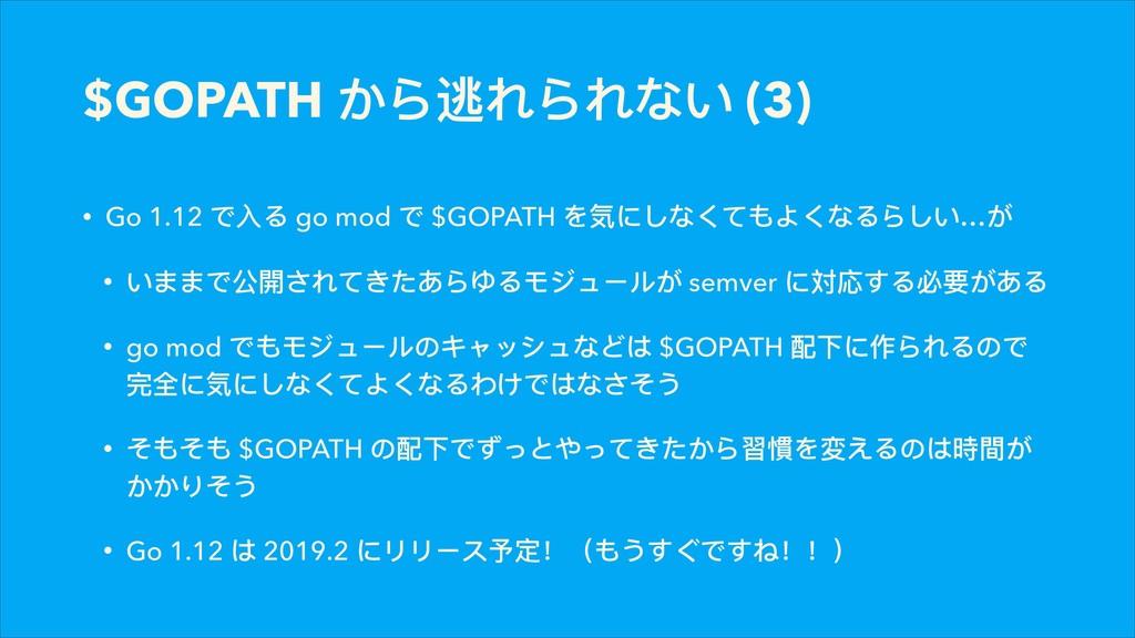 $GOPATH ͡ΟᭈΟ͚ (3) • Go 1.12 ͽفΡ go mod ͽ $GO...