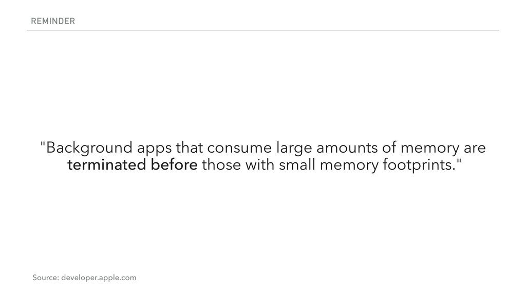 """REMINDER """"Background apps that consume large am..."""