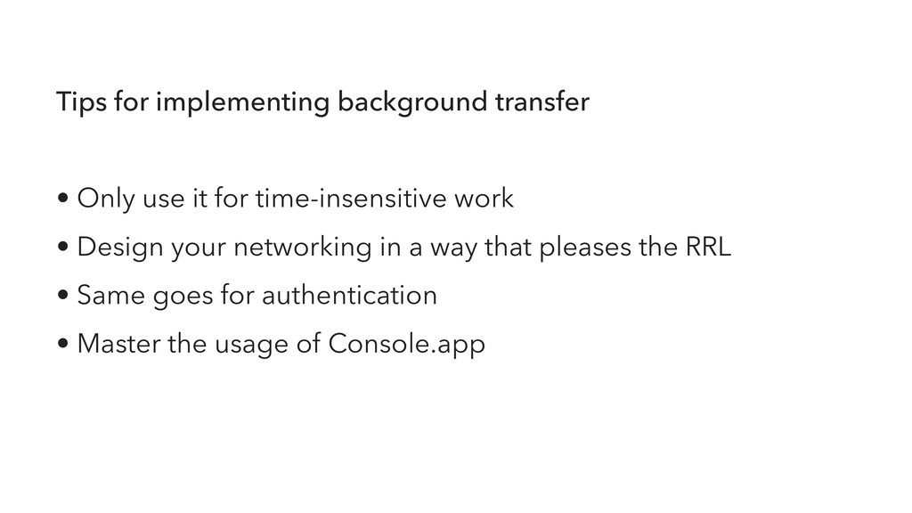Tips for implementing background transfer • Onl...