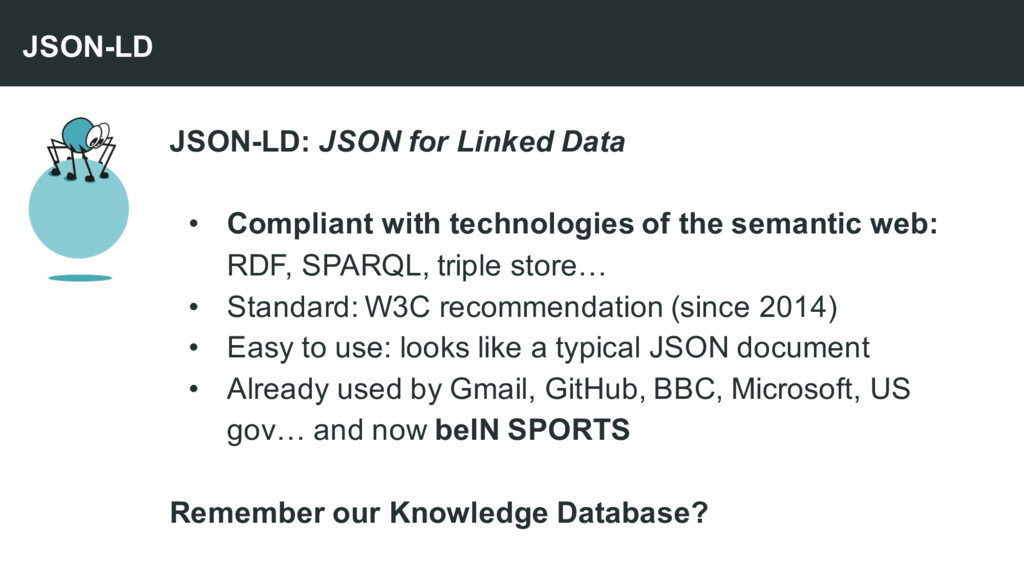 JSON-LD: JSON for Linked Data • Compliant with ...