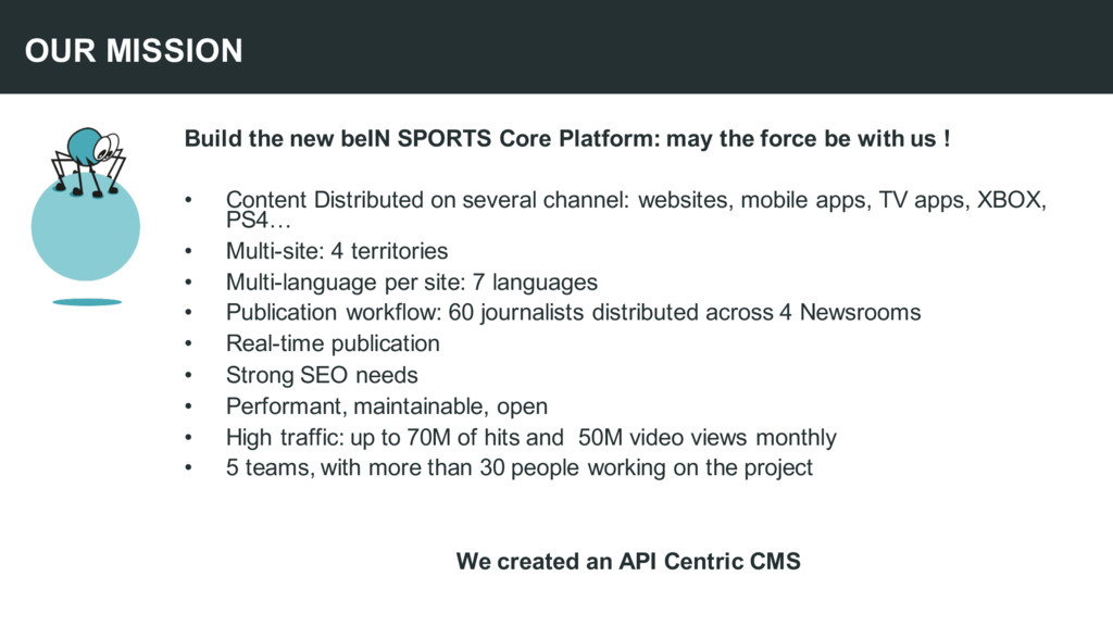 Build the new beIN SPORTS Core Platform: may th...