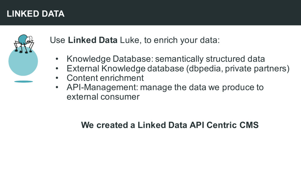Use Linked Data Luke, to enrich your data: • Kn...