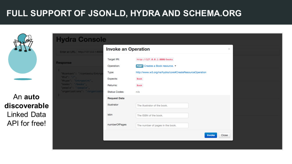 FULL SUPPORT OF JSON-LD, HYDRA AND SCHEMA.ORG A...