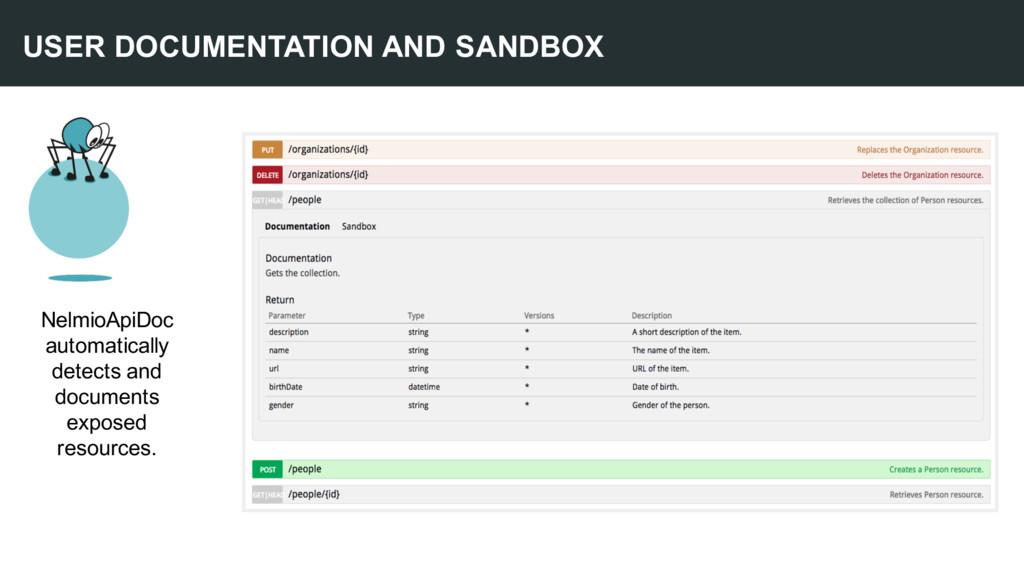 USER DOCUMENTATION AND SANDBOX NelmioApiDoc aut...