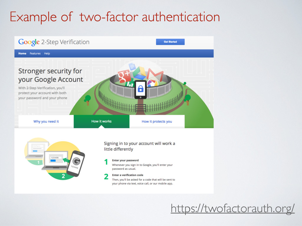 Example of two-factor authentication https://tw...