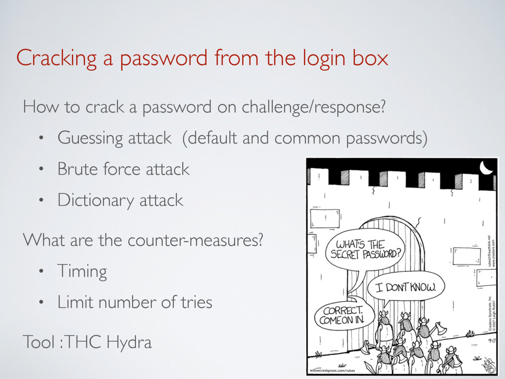 Cracking a password from the login box How to c...
