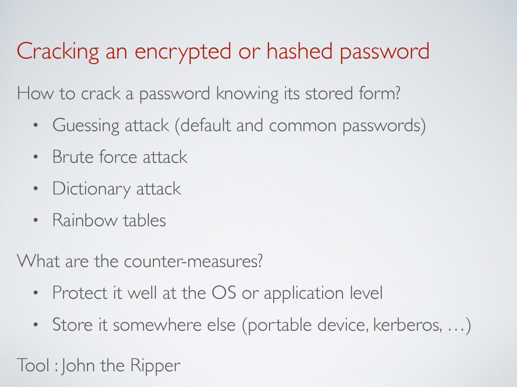 Cracking an encrypted or hashed password How to...
