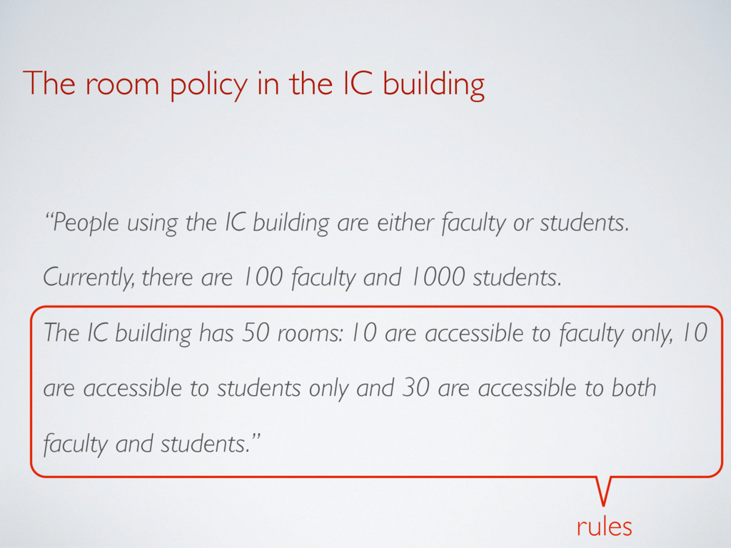 """The room policy in the IC building """"People usin..."""