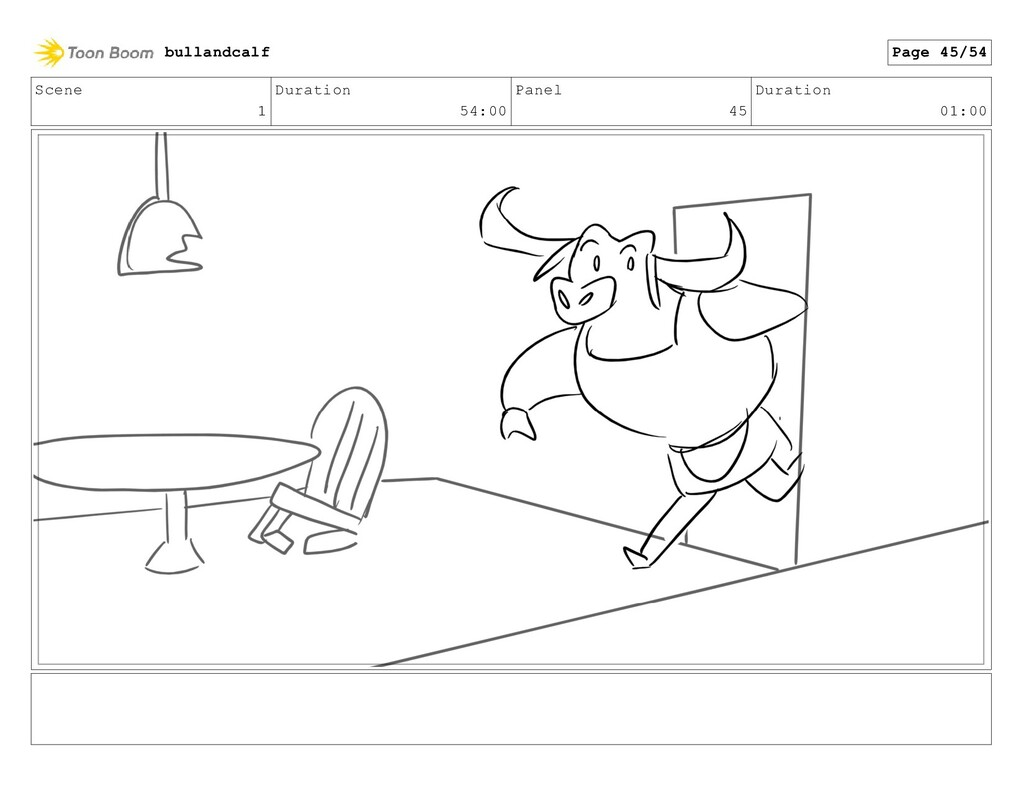 Scene 1 Duration 54:00 Panel 45 Duration 01:00 ...