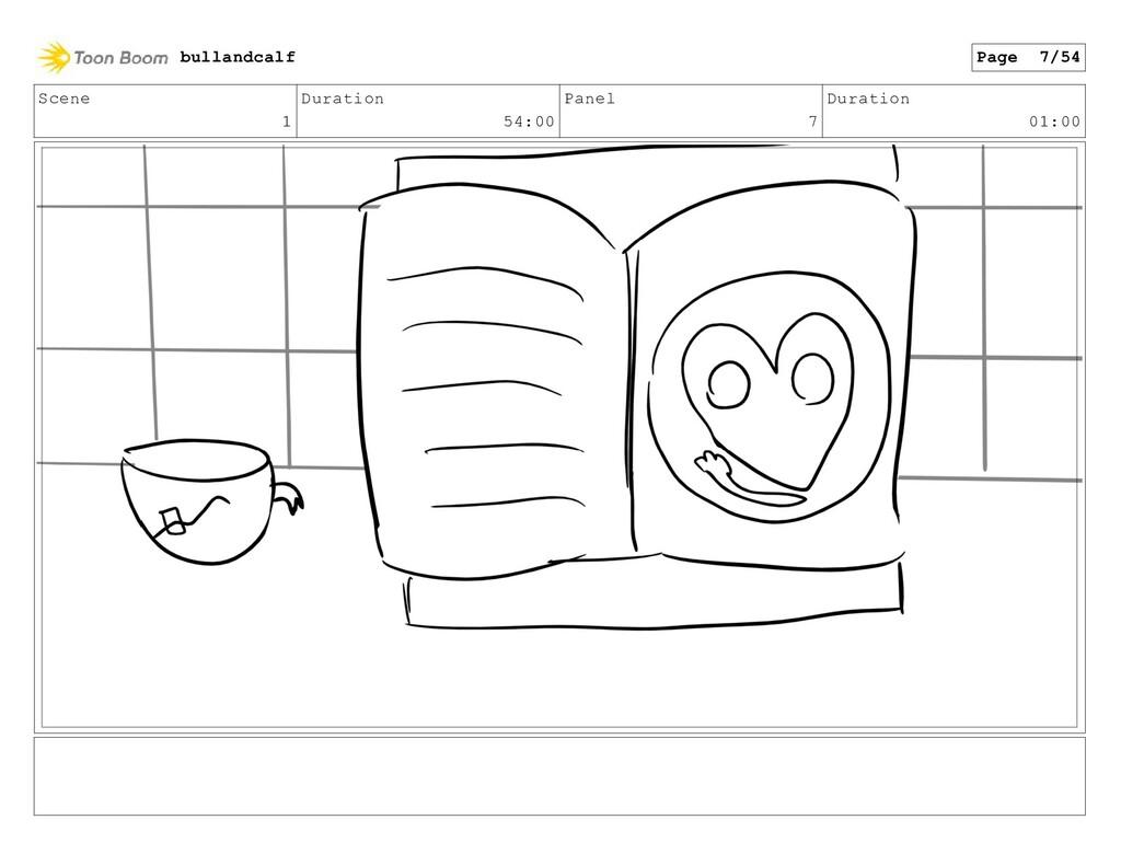 Scene 1 Duration 54:00 Panel 7 Duration 01:00 b...