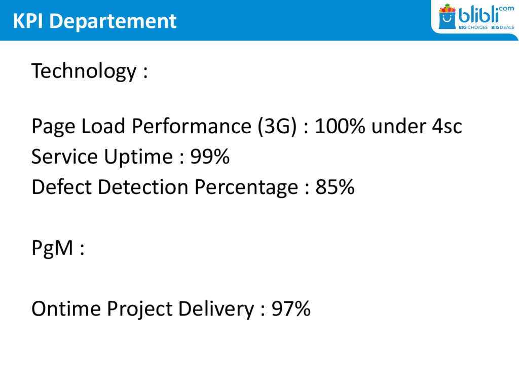 KPI Departement Technology : Page Load Performa...