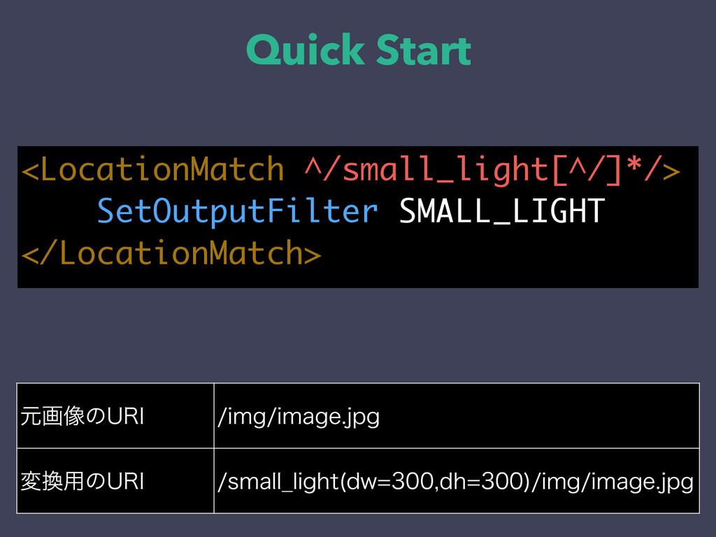 Quick Start <LocationMatch ^/small_light[^/]*/>...