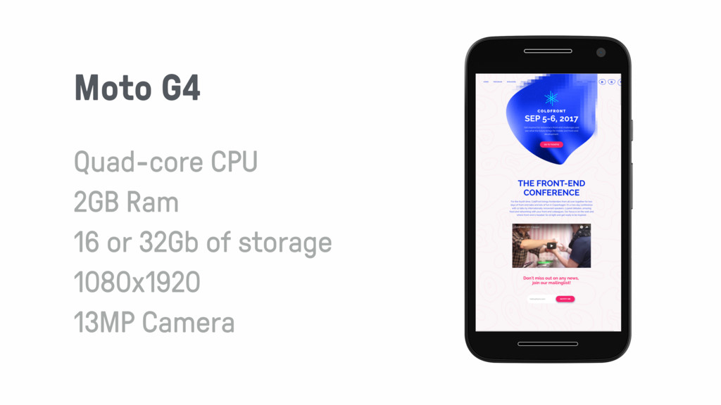 Moto G4 Quad-core CPU 2GB Ram 16 or 32Gb of sto...