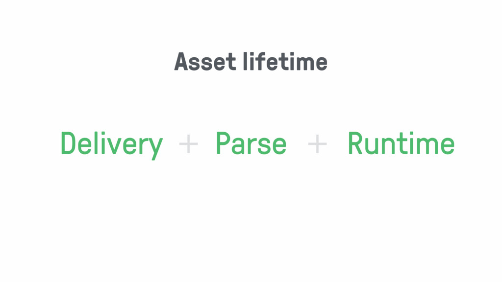 Delivery Parse Runtime + + Asset lifetime