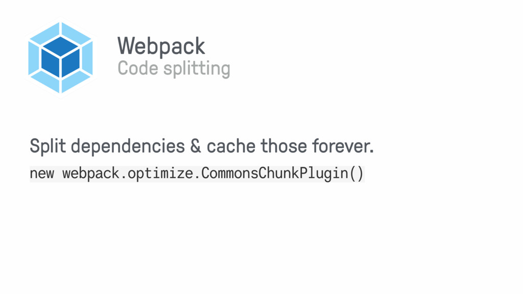 Webpack Code splitting new webpack.optimize.Com...