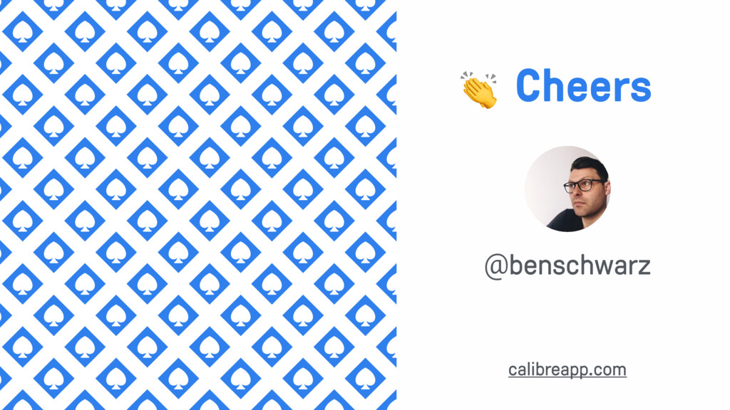 @benschwarz  Cheers calibreapp.com