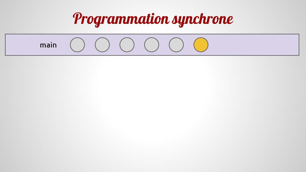 Programmation synchrone main