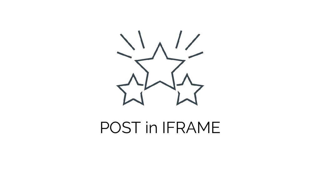 POST in IFRAME