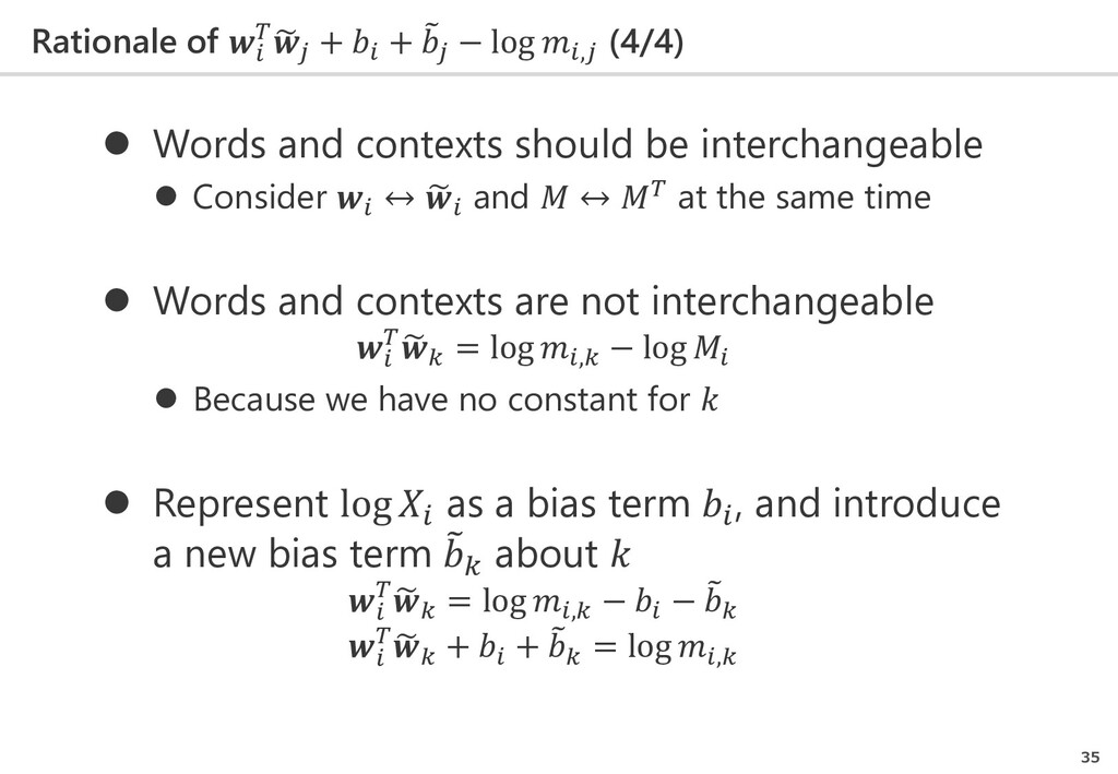 Rationale of   � 𝑗𝑗 +  + � 𝑗𝑗 − log ,𝑗𝑗 (4/4) 3...