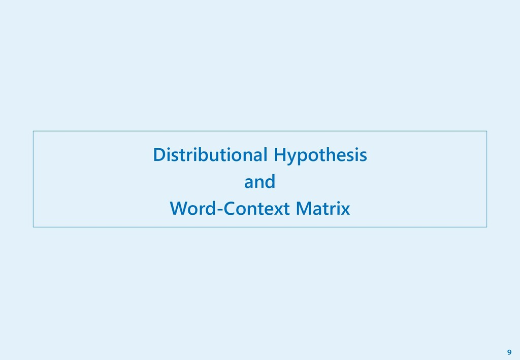 Distributional Hypothesis and Word-Context Matr...