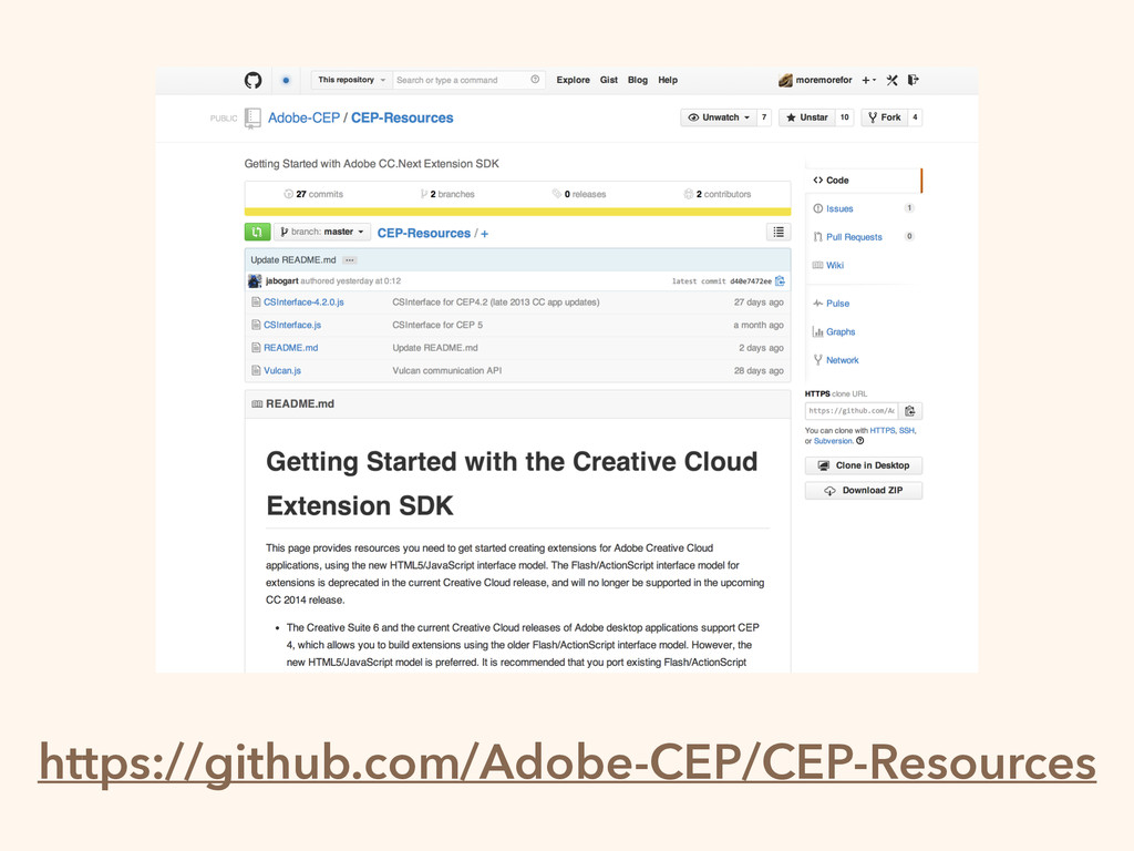 https://github.com/Adobe-CEP/CEP-Resources