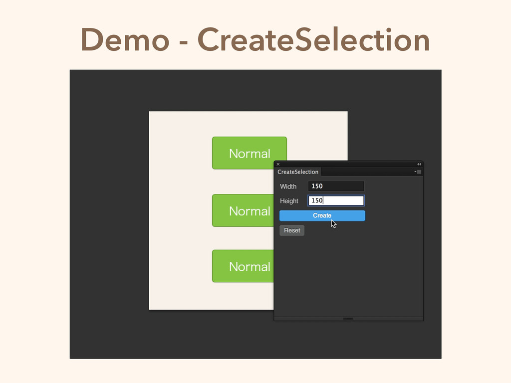 Demo - CreateSelection