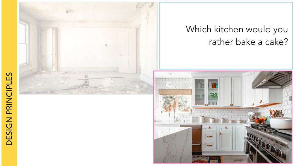 DESIGN PRINCIPLES Which kitchen would you rathe...