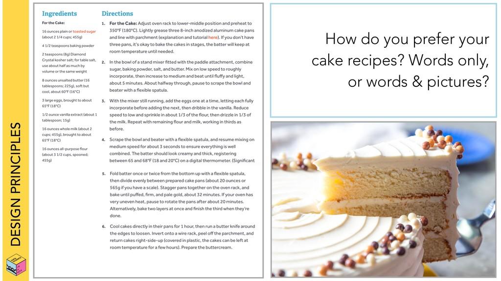 DESIGN PRINCIPLES How do you prefer your cake r...