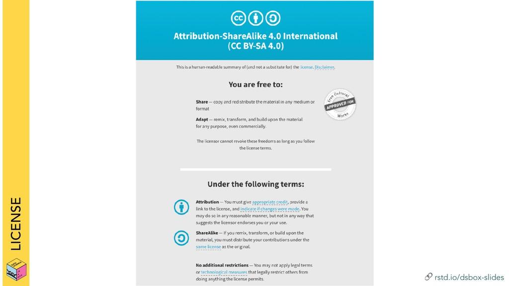 ! rstd.io/dsbox-slides LICENSE