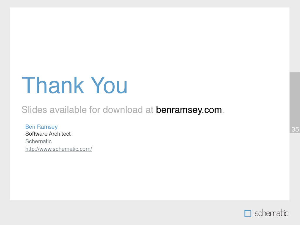 Thank You Slides available for download at benr...