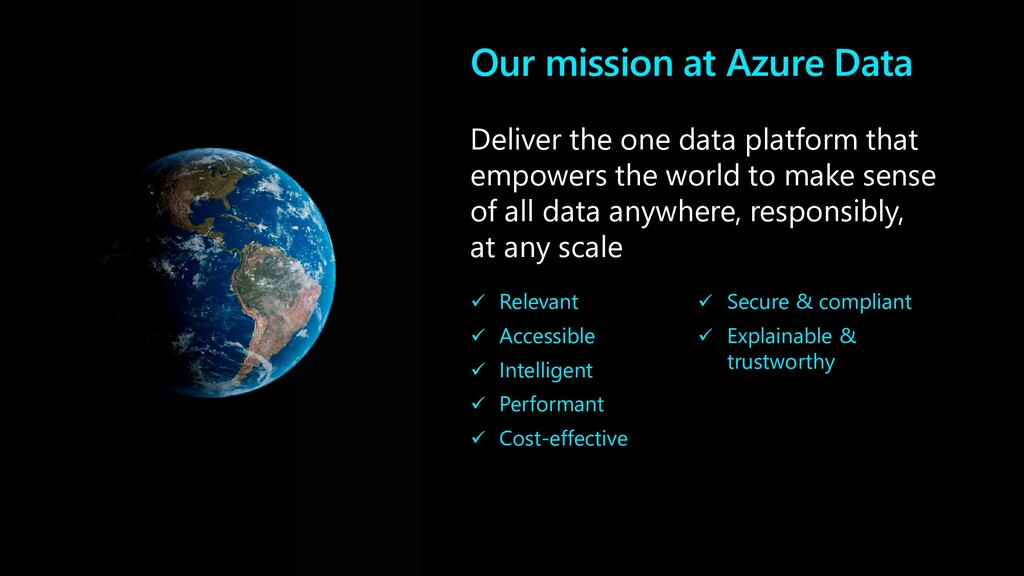 Deliver the one data platform that empowers the...