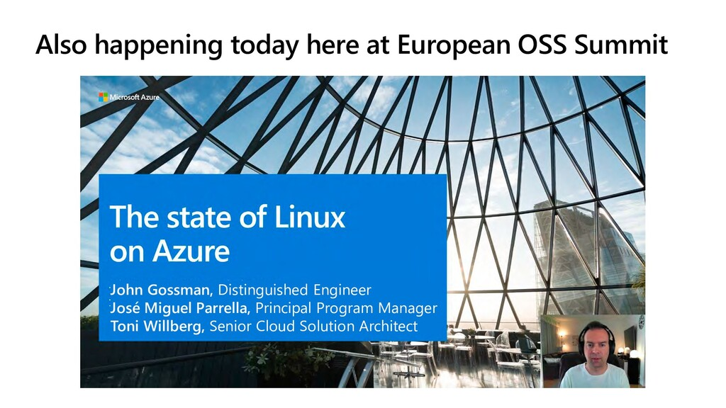 Also happening today here at European OSS Summi...