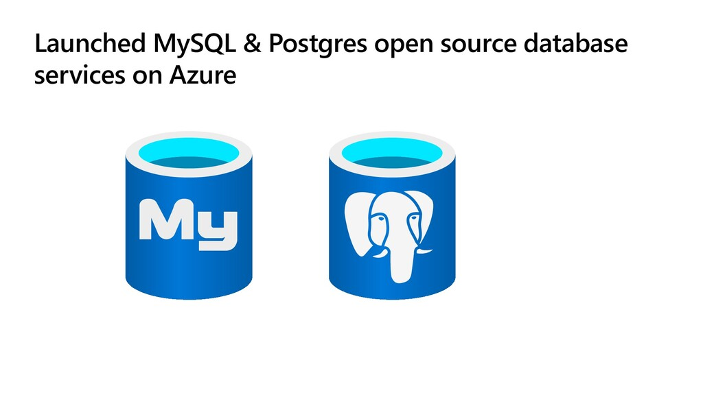 Launched MySQL & Postgres open source database ...
