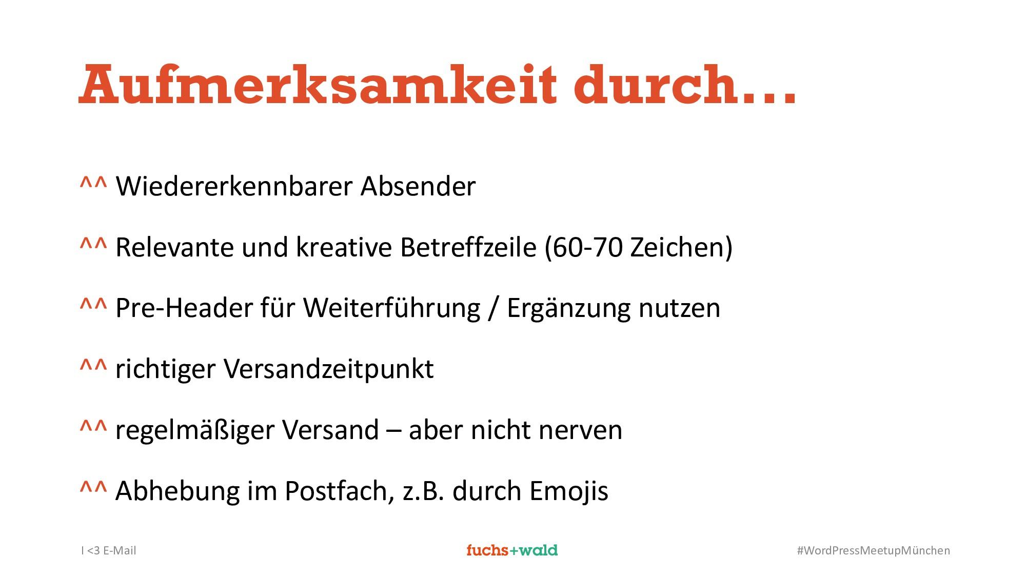 I <3 E-Mail #WordPressMeetupMünchen Aufmerksamk...
