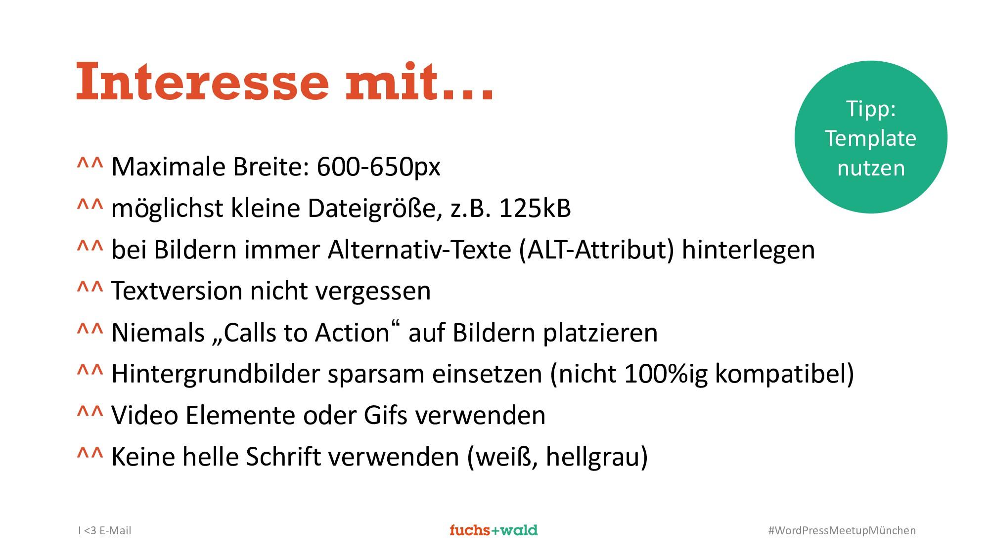 I <3 E-Mail #WordPressMeetupMünchen Interesse m...