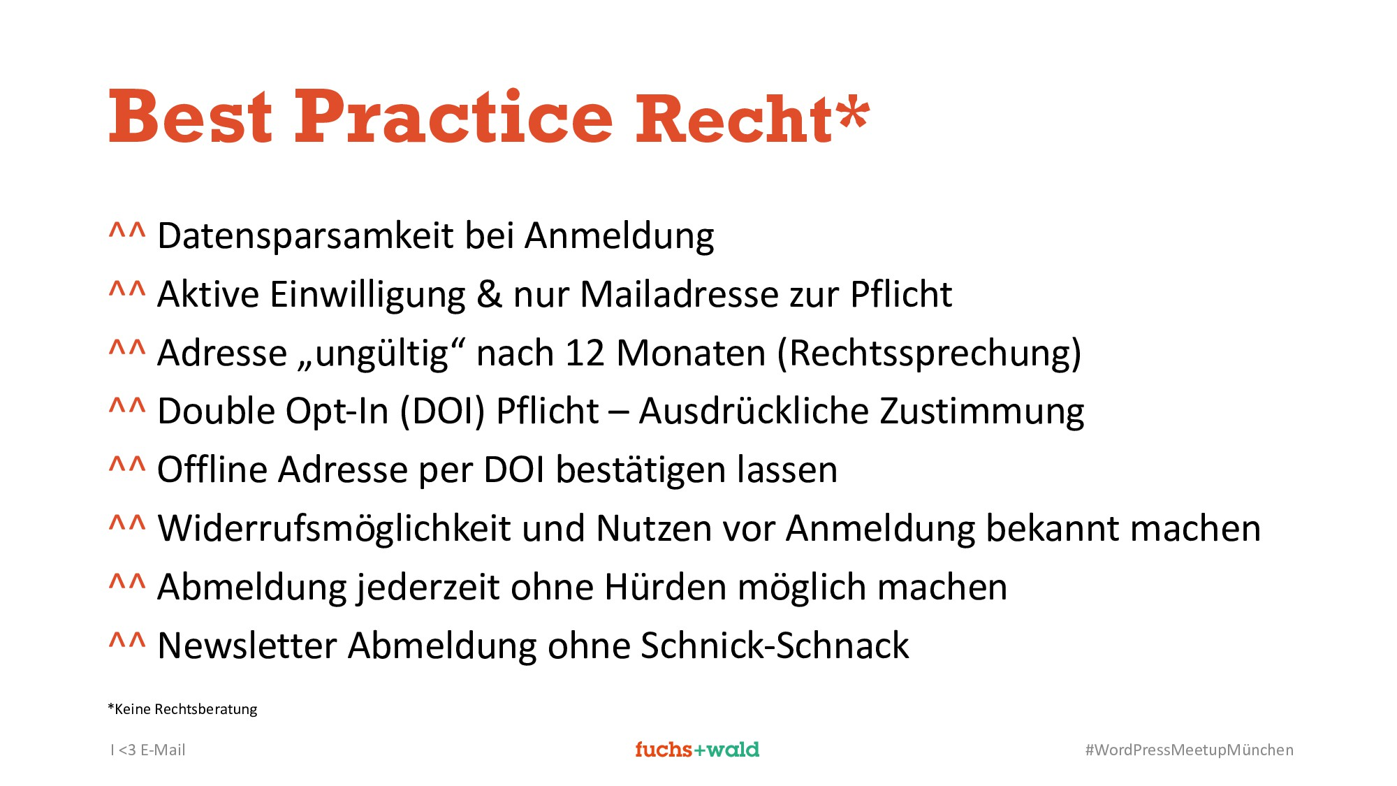 I <3 E-Mail #WordPressMeetupMünchen Best Practi...
