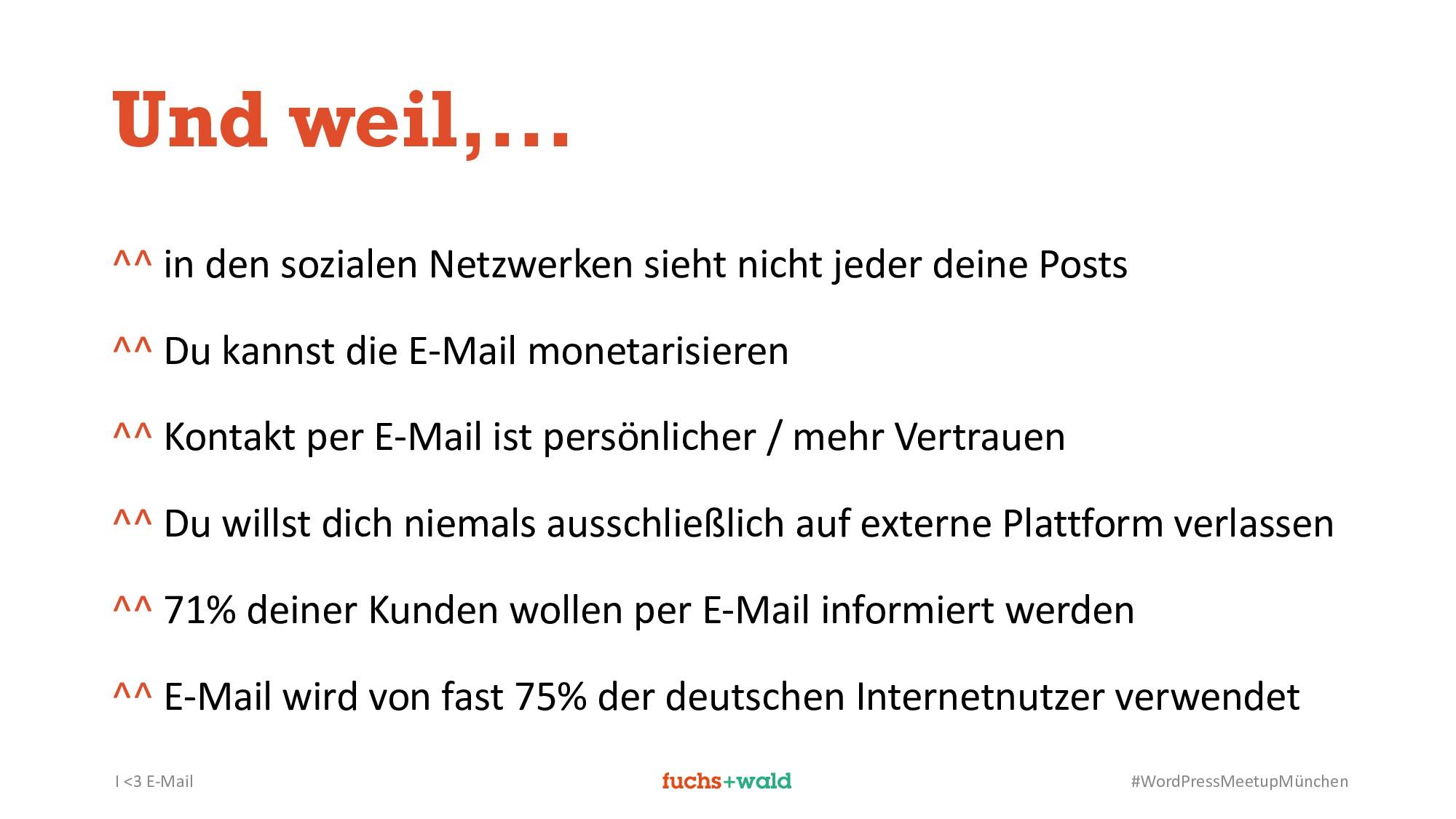 I <3 E-Mail #WordPressMeetupMünchen Und weil,.....