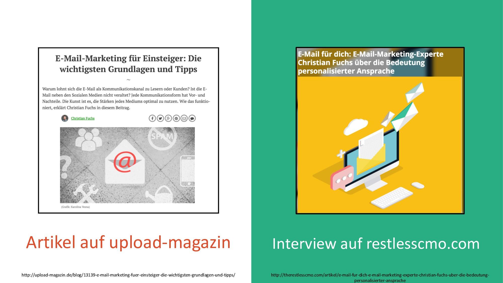 Interview auf restlesscmo.com Artikel auf uploa...
