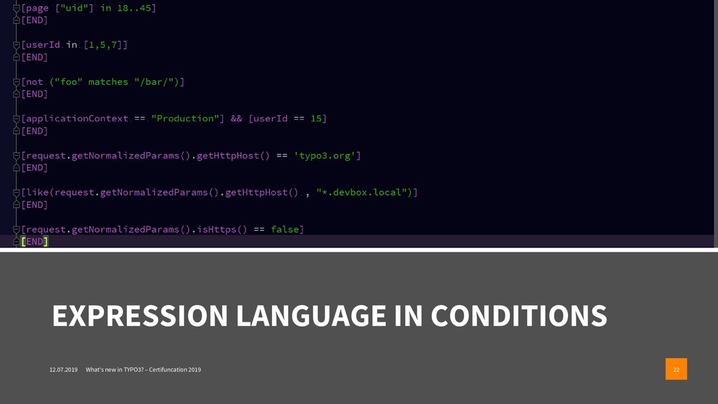 EXPRESSION LANGUAGE IN CONDITIONS 12.07.2019 Wh...