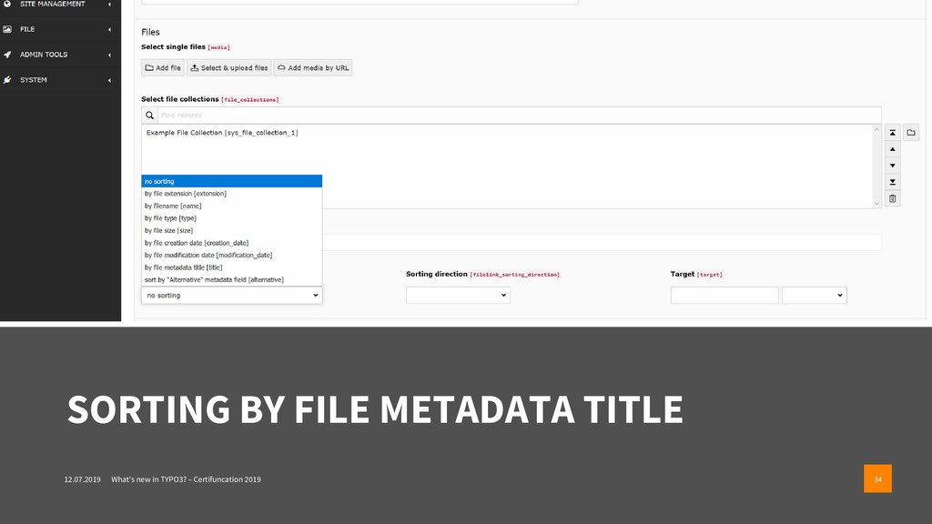 SORTING BY FILE METADATA TITLE 12.07.2019 What'...