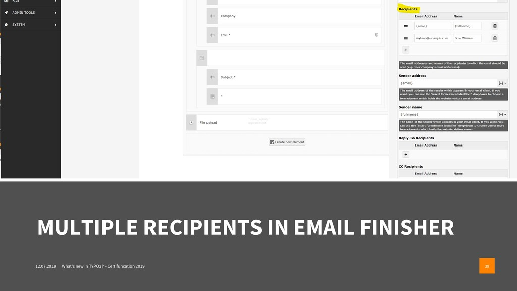 MULTIPLE RECIPIENTS IN EMAIL FINISHER 12.07.201...